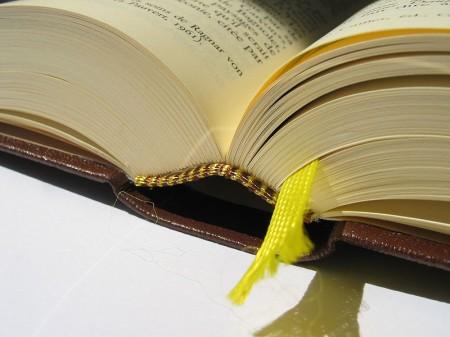 Reliure bibliothèque de la Pléiade - Droit d'auteur: Wikipédia – License CC0