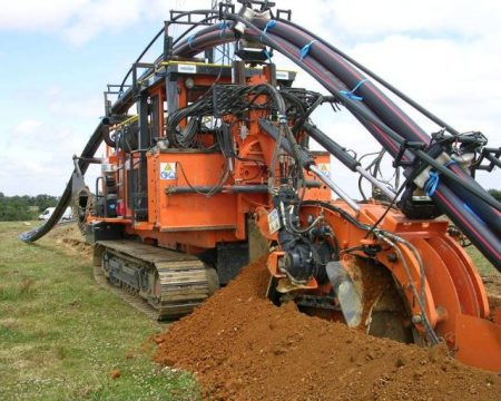 A Marais wheel trencher in Sout Africa - Droit d'auteur : Wikipedia – License CC0