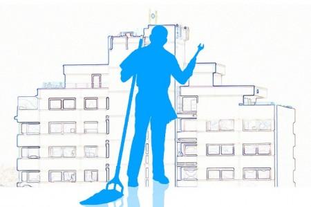Concierge Mop De Nettoyage Propres Clé Gratte Ciel - Droit d'auteur: Pixabay – License CC0