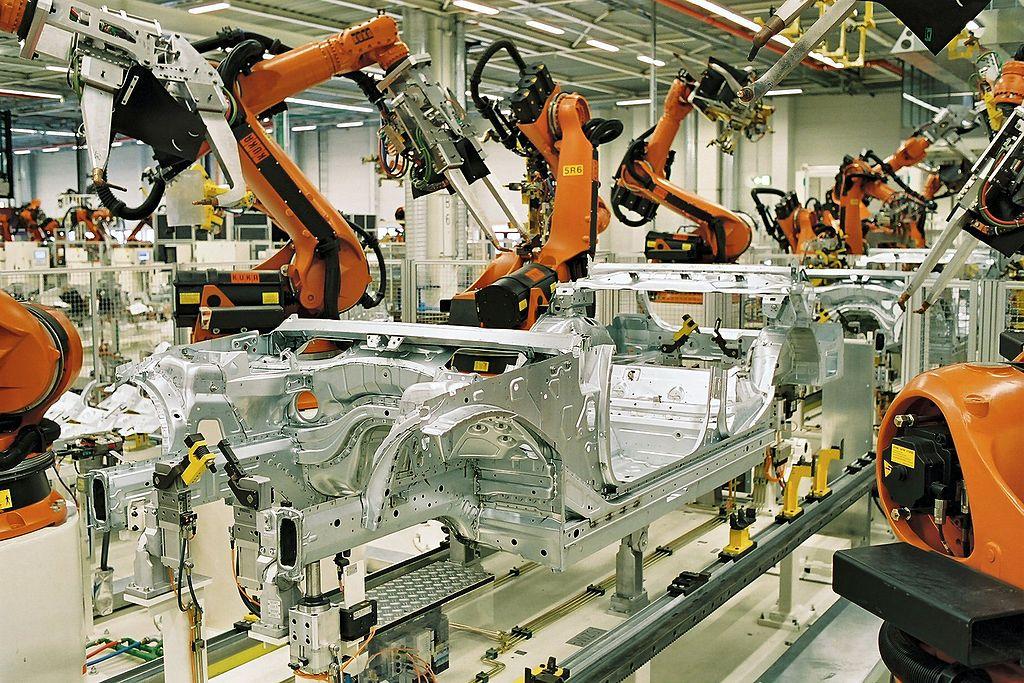 Spot welding in the automotive industry
