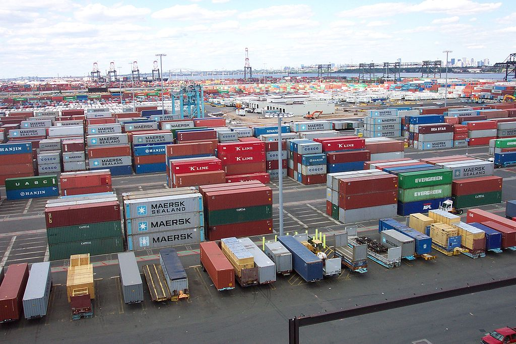 Part of the A.P. Moller Container terminal at Port Elizabeth