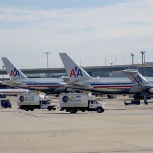 Flotte d'American Airlines au Terminal D
