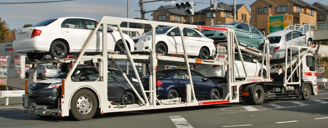 Semi type transport de voiture
