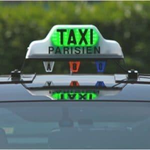Nouveau lumineux taxi vert rouge