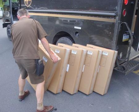 UPS parcel route driver - Droit d'auteur: Wikipédia – License CC0