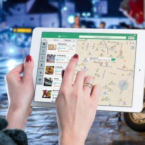 Application cartographique sur tablette