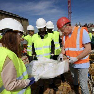 visite de chantier par un inspecteur de conformité