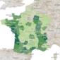 Carte de l'emploi en France par département 2