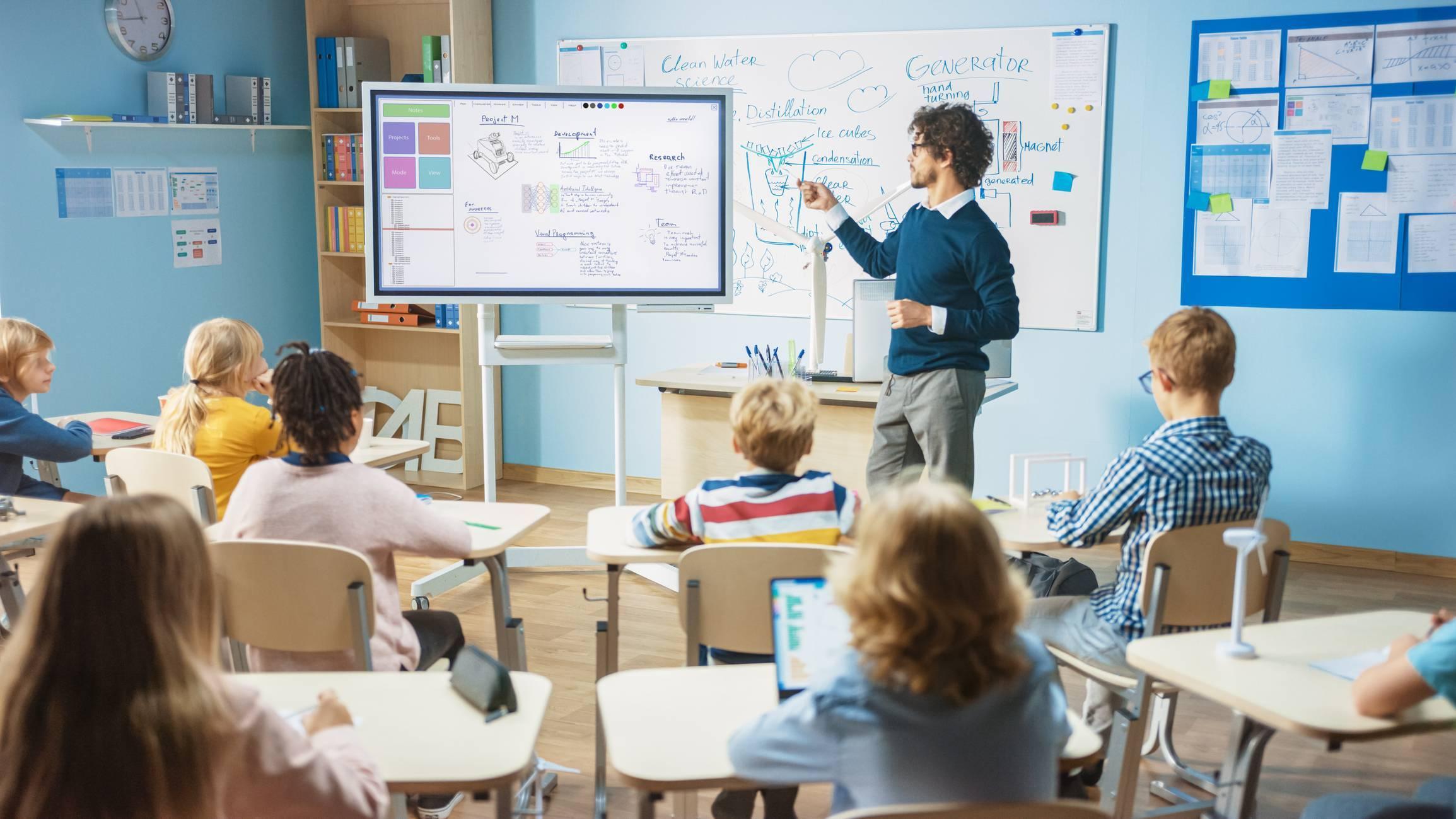 classe école mobilier scolaire vidéoprojecteur